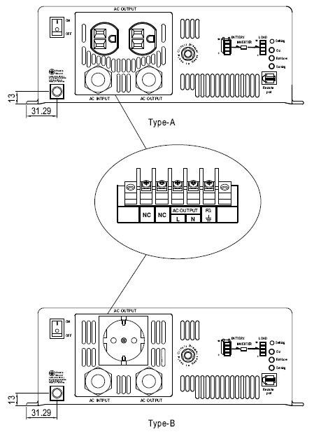 3000 Вт DC-AC инвертер
